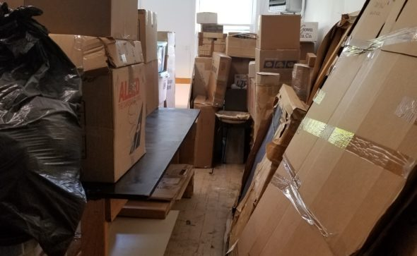 Moving boxes the studio